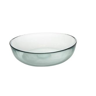 Plat rond en verre recyclé 35 cm