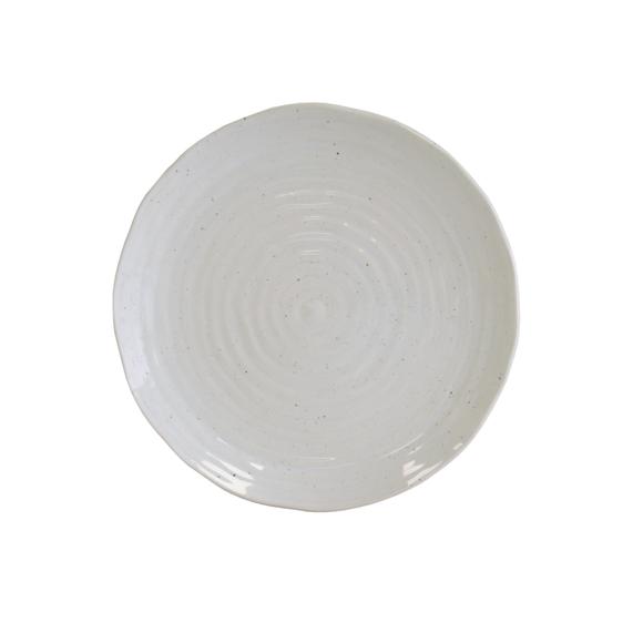 Achat en ligne Assiette plate crème artisan 27,5 cm