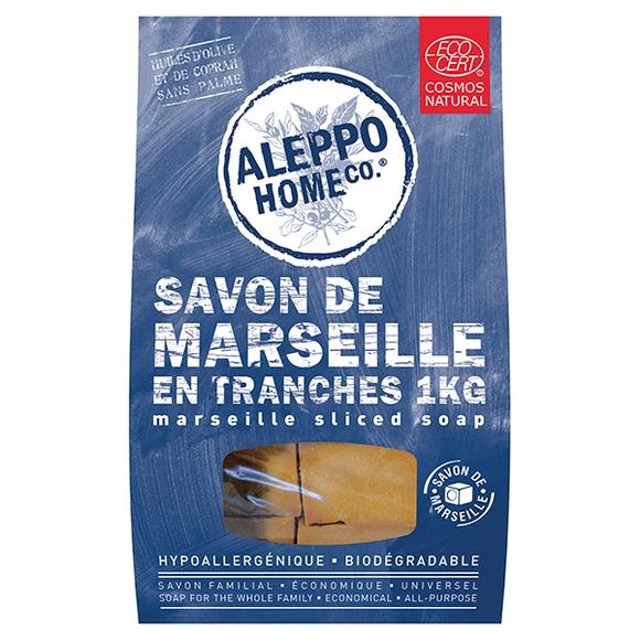 Achat en ligne Savon de Marseille en tranches vrac 1kg certifié Cosmos Nat
