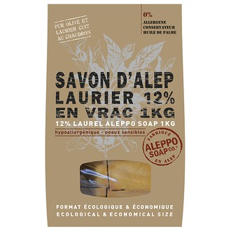 savon d'Alep 12% en vrac 1kg