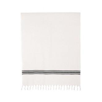 Pestamal marinière uni blanc 90x180cm