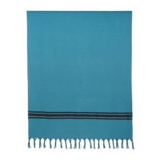 Drap de plage 90x180 cm en coton bleu crépuscule