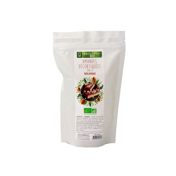 compra en línea Almendras peladas ecológicas Patisdecor (250 gr)