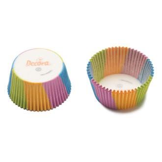 DECORA - Lot de 75 caissettes à cupcakes multico Armonie 50x32mm