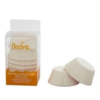 DECORA - Lot de 75 caissettes à cupcakes blanc 55mm
