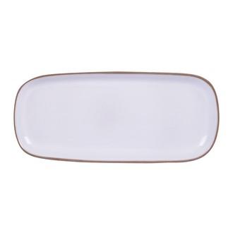 Plat à tapas blanc 34x15 cm