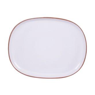 Grand plat oval blanc 37 cm