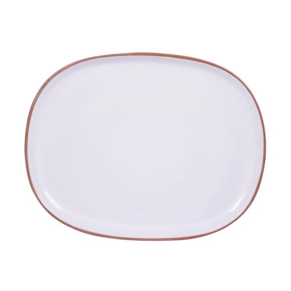 Achat en ligne Grand plat oval blanc 37 cm