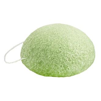 Eponge Konjac naturelle visage à l'argile verte pour peaux mixtes et grasses