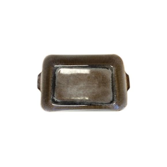 Pirofila per forno in gres marrone 26x16xH5 cm