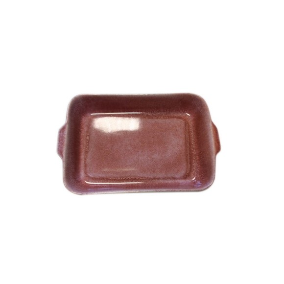 Plat à four grès réactif rouge 26x16xH5cm