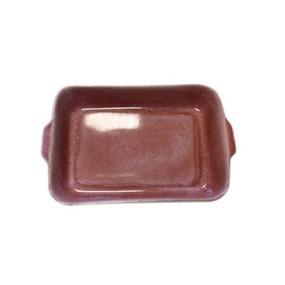 Plat à four grès réactif rouge 33x12xH6,5cm