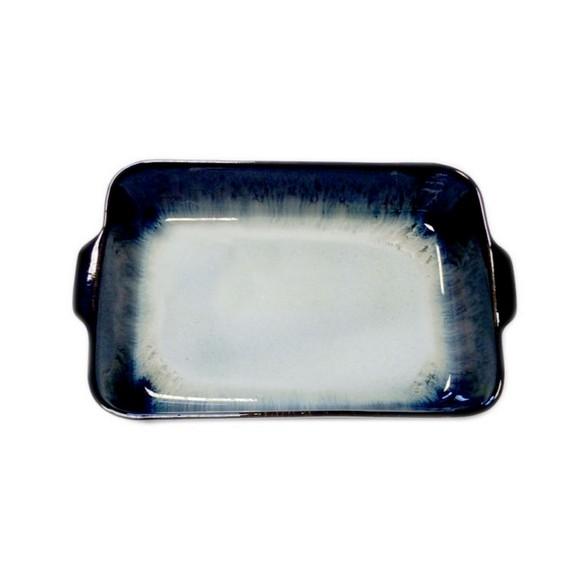 Pirofila per forno in gres nero 33x21xH6,5 cm