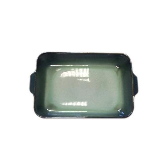 Pirofila per forno in gres verde chiaro 26x16xH5 cm