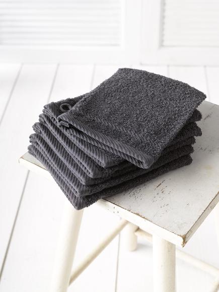 Achat en ligne Gant de toilette en coton gris foncé Hélène