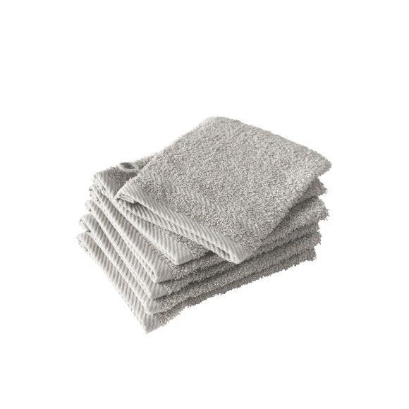 Gant de toilette en coton gris Hélène