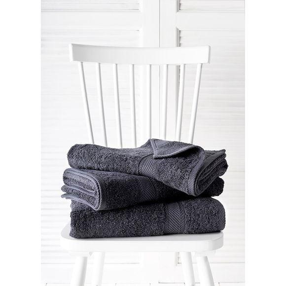 Asciugamano 70 x 140 cm grigio scuro 450 g/m²