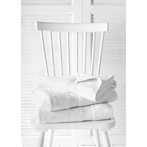 Asciugamano 70 x 140 cm bianco 450 g/m²