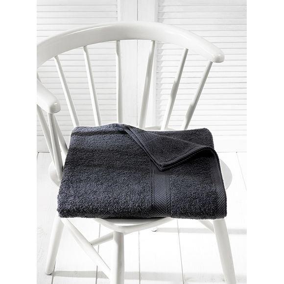 Asciugamano 100 x 150 cm grigio scuro 450 g/m²