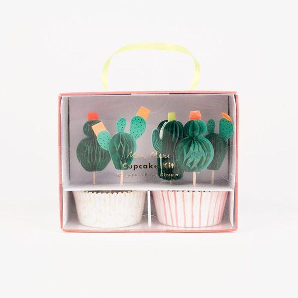 Kit per cupcakes tema cactus