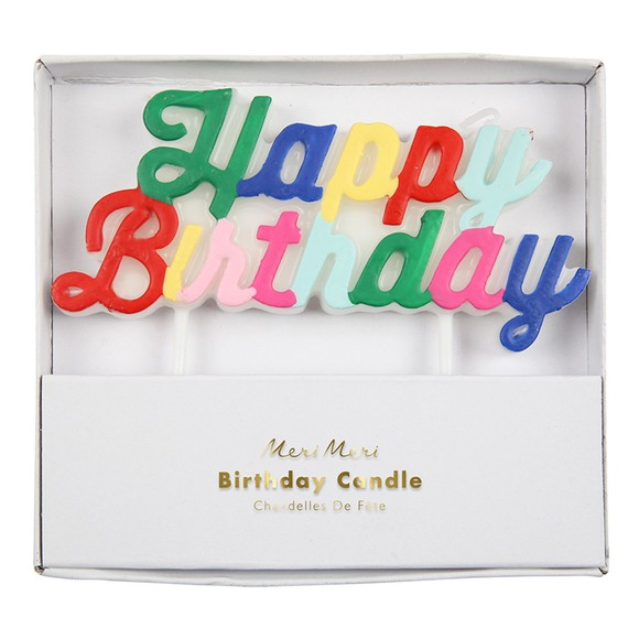 Candela multicolore buon compleanno