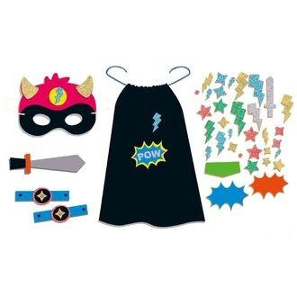 Kit déguisement super héros noir