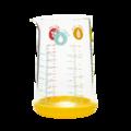 Bicchiere misuratore in vetro con base in silicone da 0,5 L