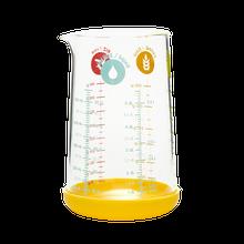 Achat en ligne Verre doseur gradué en verre avec base silicone jaune 0,5L