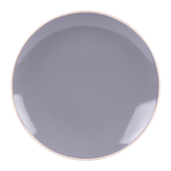 Achat en ligne Assiette plate Alfa gris brillant 27 cm