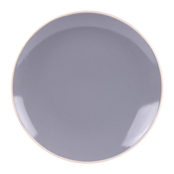 Achat en ligne Assiette à dessert Alfa gris brillant 21 cm