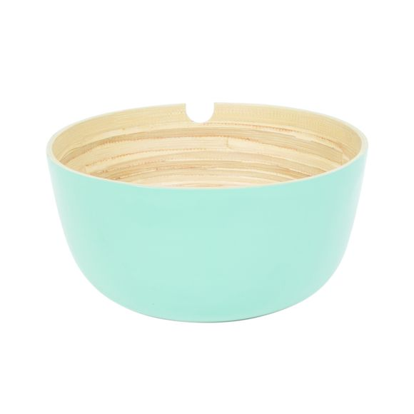 acquista online Insalatiera in bambu verde 24cm