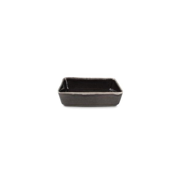 Plat à four réctangulaire artisan noir 20x13x5,5cm