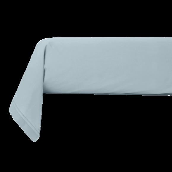 Federa per traversino in cotone percalle blu azzurro 44x185cm
