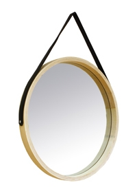 Miroir rond barbier scandinave 35cm