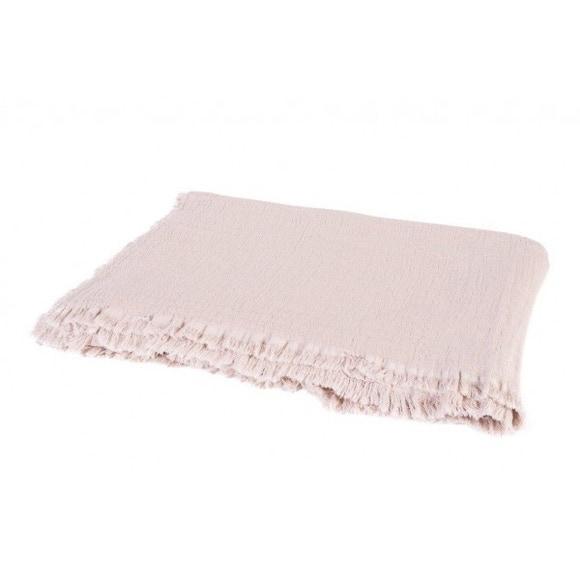 Achat en ligne Plaid en gaze de coton Vanly nude 130x190cm
