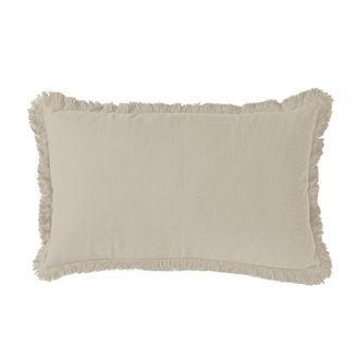 Cuscino rettangolare in cotone grigio 30x50cm