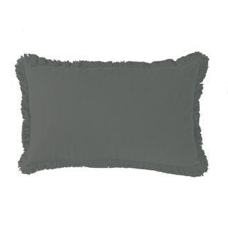 Zodio - coussin en gaze de coton colombe gris souris 30x50cm