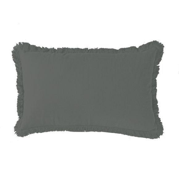 Achat en ligne Coussin en gaze de coton Colombe gris souris 30x50cm