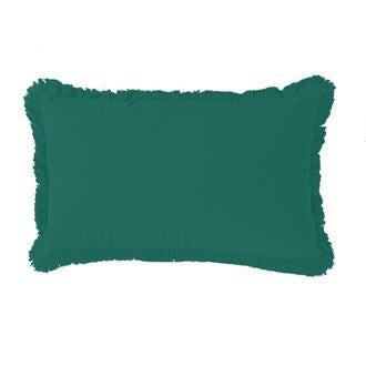 Zodio - coussin en gaze de coton colombe vert malachite 30x50cm