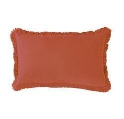 Achat en ligne Coussin en gaze de coton Colombe rouge terracotta 30x50cm