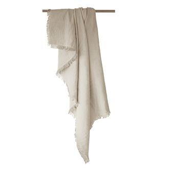 ZODIO - Plaid en gaze de coton Colombe gris tourterelle 130x150cm