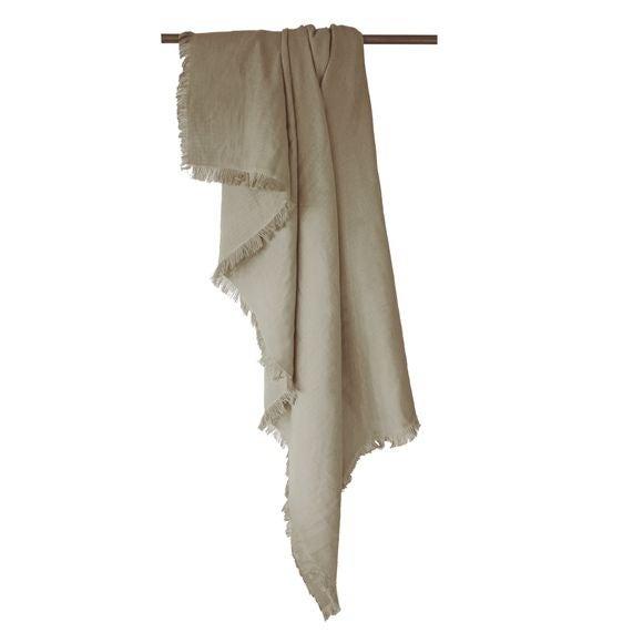 Plaid en gaze de coton Colombe gris glaise 130x150cm