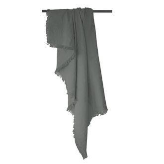 Plaid en gaze de coton Colombe gris souris 130x150cm