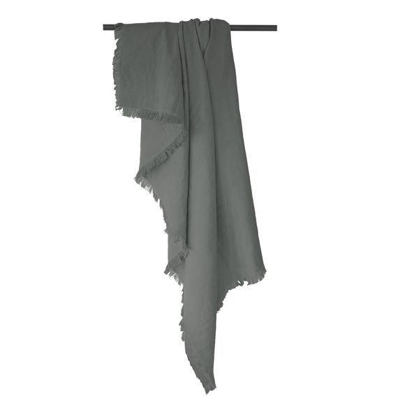 acquista online Plaid in cotone grigio 130x190cm