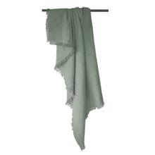 Achat en ligne Plaid en gaze de coton Colombe gris fumée 130x150cm