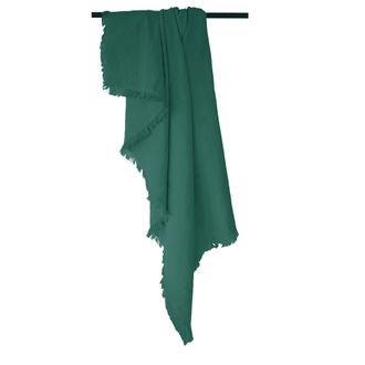 Plaid en gaze de coton Colombe vert malachite 130x150cm