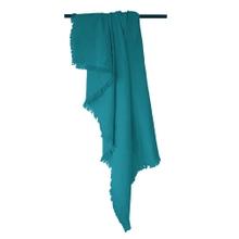 Achat en ligne Plaid en gaze de coton Colombe bleu peacock 130x150cm