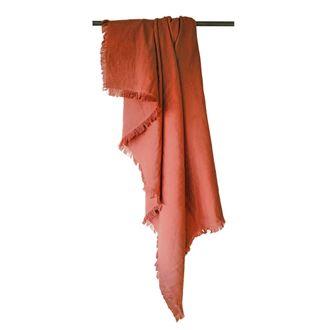 Plaid en gaze de coton Colombe rouge terracotta 130x150cm