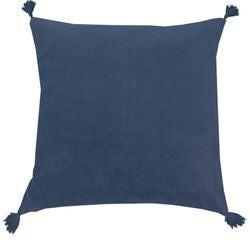 Achat en ligne Coussin en velours de coton Nala bleu cendre 50x50cm