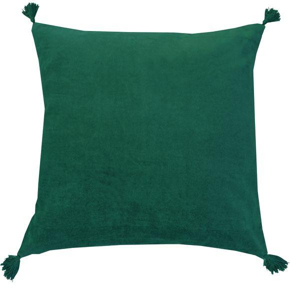 Coussin en velours de coton Nala vert malachite 50x50cm